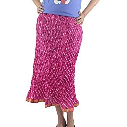 ShopMore Cotton Skirt(Rose_Free-Size)