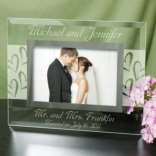 Mr. and Mrs. Wedding 4x6 Glass Picture Frame (Phot Display compare prices)
