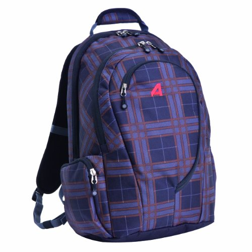 Athalon Luggage Computer Backpack, Plaid, One Size