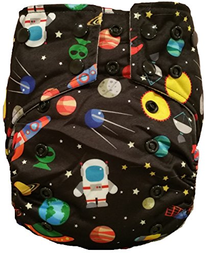 Goddard Pocket Cloth Diapers by BB Cloth (Space & Rockets) - 1