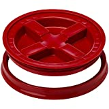 Gamma Seal Lid - Red - For 3.5 to 7 Gallon Buckets or Pails Gamma2