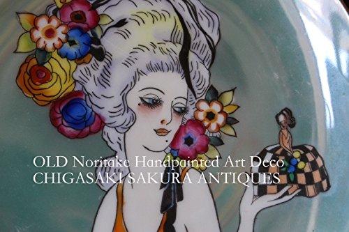 オールドノリタケ アールデコの極み ポンパドール婦人 ハンドペイント1918年頃