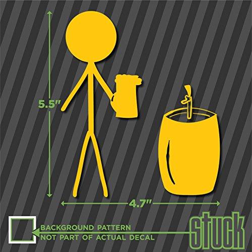 "Single Male Stick Figure Party Guy Keg Beer - 4.7"" X 5.5"" - Vinyl Decal Sticker Bumper Car Window front-255585"