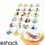 24 x Disney Princess Edible Birthday Cupcake Cake Toppers Decorations