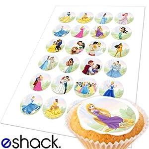 Edible Cake Decorations Uk : Cakeshop Basics 24xDisney Princess Edible Cake Toppers ...