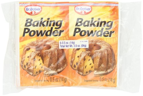 Dr.Oetker Baking Powder, 6 Envelopes, 0.5 Ounce (Pack of 12)