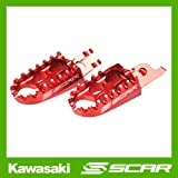 FOOTPEGS STD KAWASAKI KXF 250 450 KX250F KX450F HONDA CR CRF 125 250 450 RED FOOT PEGS REST SCAR