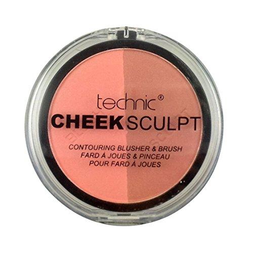 Technic Cheek Sculpt Contouring Duo Blusher & Brush-Peachy