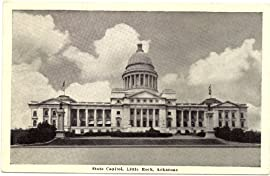 1940s Vintage Postcard - State Capitol Building - Little Rock Arkansas