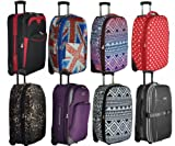 5 Cities Lightweight Cabin Approved Hard Wearing and Light Weight Trolley Wheeled Luggage Bag (18 inch fits 50 x 40 x 20 & 21 inch 55 x 40 x20)