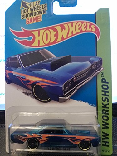 Hot Wheels HW Workshop 211/250 '68 Dodge Dart Dark BLUE 2014 Heat Fleet