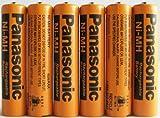Panasonic NiMH AAA Rechargeable Battery for Cordless Phones x six 6 aaa 700 mah 1.2v batteries