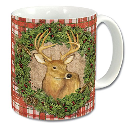 Counterart Ceramic Mug, 11-Ounce, Christmas Moose/Deer