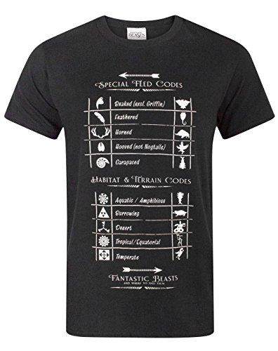 Fantastic Beasts and where to find them -  T-shirt - Maniche corte  - Uomo Black Small