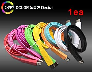 Iphone Vivid Color Cable #White 20cm (30 Pin) 1ea