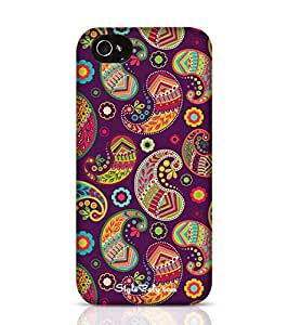 Style baby Violet Pattern In Paisley Style Apple iPhone 4S Phone Case