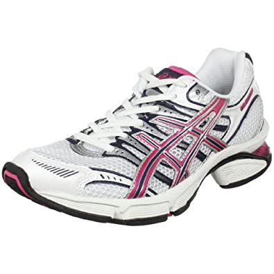 ASICS Women's GEL-Fluent 3 Running Shoe,White/Rose/Navy,12 M US