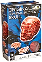 Original 3D Crystal Puzzle - Skull Red