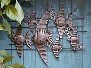 Wanddekoration wanddeko wand objekt fisch fische wand for Wanddeko balkon