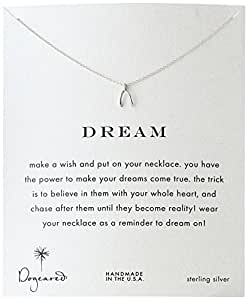 "Dogeared Reminder ""Dream"" Sterling Silver Wishbone Pendant Necklace"