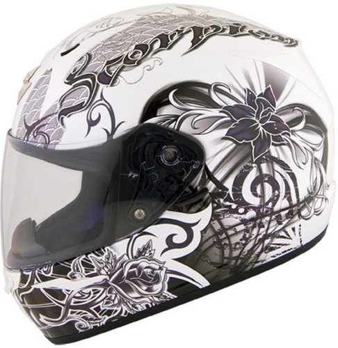 Scorpion Exo-R410 Orchid Womens' Street Helmet - White - 2Xl front-112360