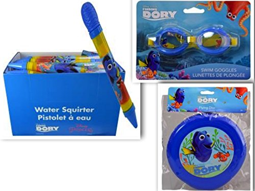 FAVORITE Finding Dory Disney Beach and Pool 3 Piece Swim & Playdate Bundle: 3 Items- Water Blaster, Flying Disc, & Splash Goggles (Light Film Shark Tank compare prices)