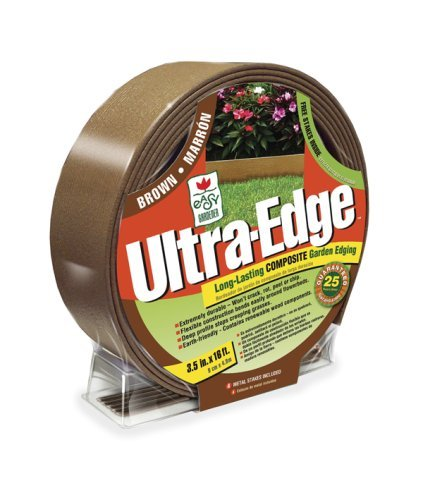Easy Gardener 8416 Ultra Edge Composite Landscape Edging With 25 Year Warranty - 16-Foot Brown Packagequantity: 1 Outdoor/Garden/Yard Maintenance (Patio & Lawn Upkeep)