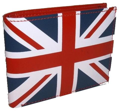 ' Union Jack ' Wallet & Credit Card Holder With Coin & Notes Storage