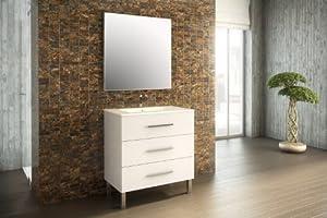 Mennza meuble de salle de bain madrid meuble blanc - Amazon meuble salle de bain ...