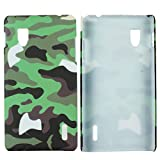 Heartly Army Style Retro Color Armor Hybrid Hard Bumper Back Case Cover For LG Optimus G E975 - Army Green
