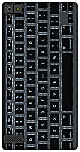 The Racoon Grip KeyBoard hard plastic printed back case / cover for Blackberry Z3