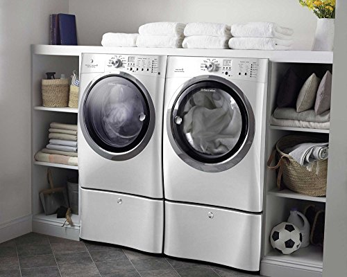 Electrolux Laundry Pair System Bundle High Efficiency Front Load Laundry Pair with ELECTRIC Dryer, and Steam *Plus* Matching Storage Pedestals(EIFLS60JIW_EIMED60JIW_EPWD15W X 2)-Island White Color (Electrolux Washer Ewfls70jiw compare prices)