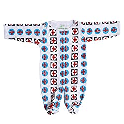 BACHHA ESSENTIAL Baby Full Romper(1006A_6months_Red_6-9 months)