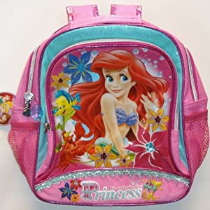 683595a53f1 Ariel little mermaid disney princess girls pink school bag jpg 300x300 School  disney princess ariel