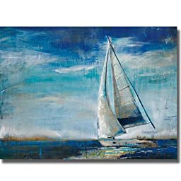 Sail Away by Liz Jardine Premium Stretched Canvas (Ready to Hang)