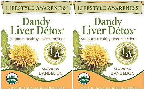 Lifestyle Awareness Dandy Liver Detox Herbal Tea 20 Tea Bags Pack of 2 (Liver Baby Food compare prices)