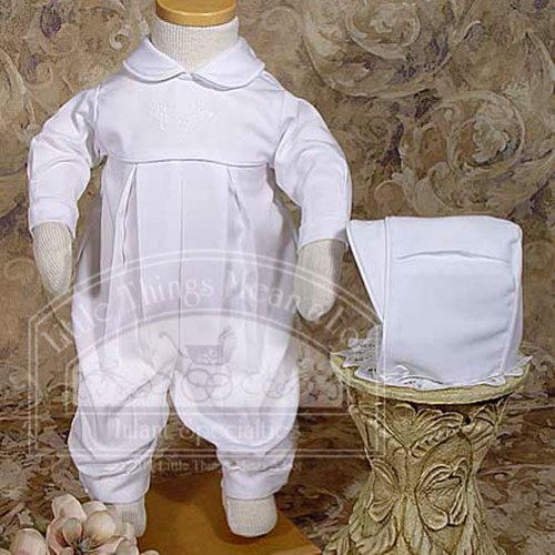 Baby Boys Size 6M Pleated Embroidery Shamrock Cluster Baptism Outfit