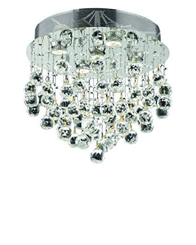 Crystal Lighting Galaxy Collection 16 Flush Mount, Chrome