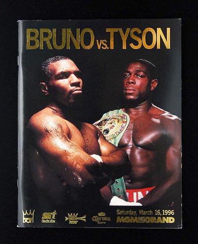 マイク・タイソン vs ブルーノ 海外輸入 ボクシング パンフ
