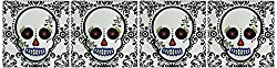 Janna Salak Designs Day of the Dead Dia de los Muertos Sugar Skull Ceramic Tile Coaster