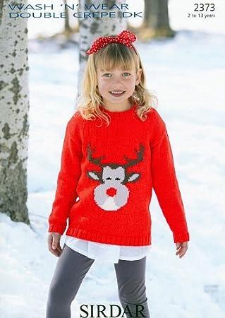 Sirdar Wash n Wear DK Children's Christmas Jumper