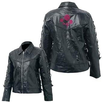 Ladies Genuine Buffalo Leather Jacket Large