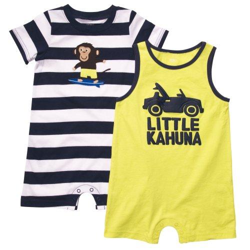 Carter's Infant 2-pack Suit Romper - Lime, Size 6 Months