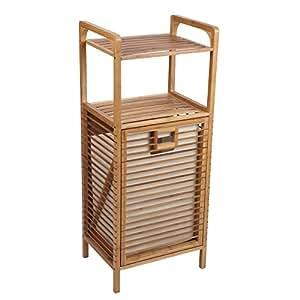 household essentials tilt out bamboo laundry hamper home kitchen. Black Bedroom Furniture Sets. Home Design Ideas