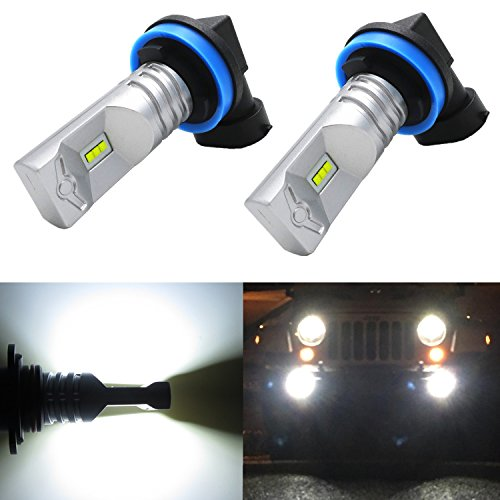 Alla Lighting High Power CSP SMD H11 H8 Extremely Super Bright 6000K Xenon White LED Lights Bulbs Best for Replacing Fog Light Lamps (2012 Toyota 4runner Fog Lights compare prices)