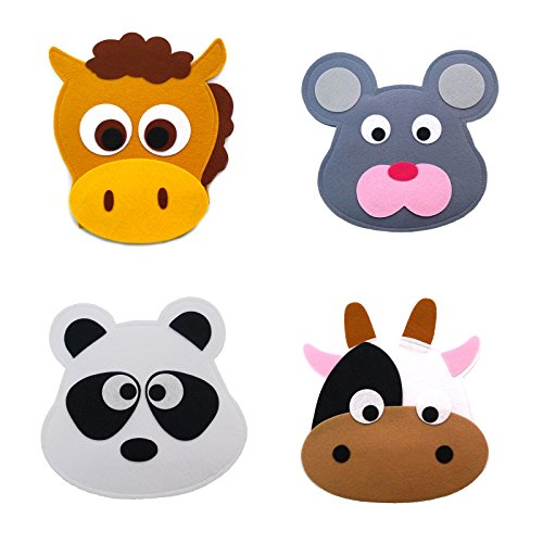 Animal Headband masks horse+mouse+panda+cow