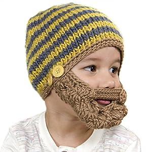 Amazon.com: Beard Beanie: Hand Crocheted Beard Hat for Kids - Blonde