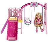 Mattel Barbie BDG48 - Chelsea Schaukel Spielset, inklusive Puppe und Häschen hergestellt von Mattel