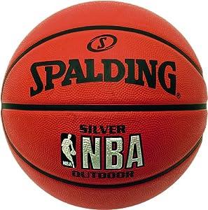 Spalding NBA Silver - Balón de baloncesto para exterior, color naranja (-) - 5