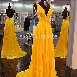 Amazon.com : Vestidos De Festa Vestido Longo Chiffon Prom Dresses